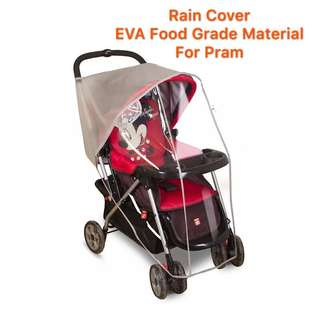🌈(Ready Stock)💯🆕Brand New EVA Material(Food Grade)Rain Cover / Weather Shield / Canopy for baby stroller / pram / tricycle