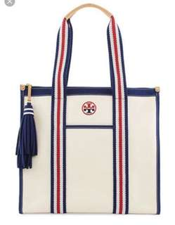 Tory Burch Preppy Canvas Tote Bag