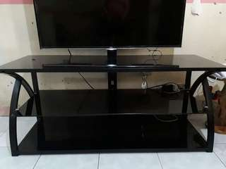 3 layer Tempered Glass TV Rack with Bracket (COLOR BLACK)