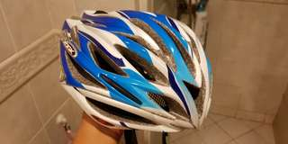 OGK kabuto mostro blue white bicycle helmet