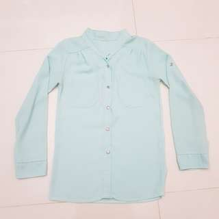 Mint Green Long Sleeved Blouse