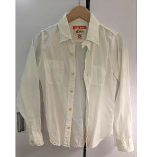 UES CHAMBRAY WORK SHIRT WHITE (Size 0)