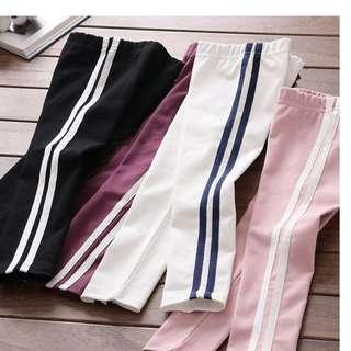 Ready Stock Girls New Fashion Side stripe Pants