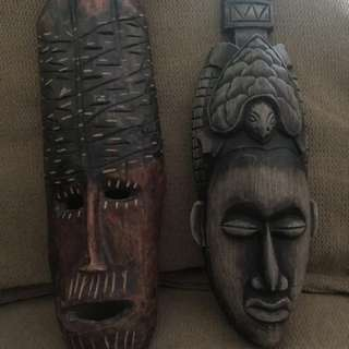 Ancient tribal decor/masks