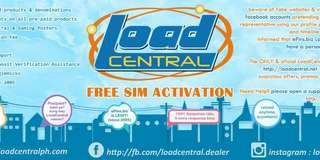free load central activation 1 sim load all network
