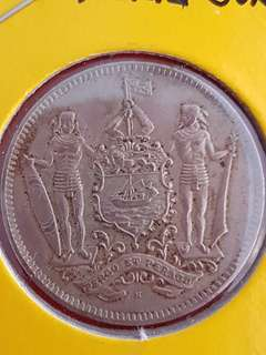 North Borneo 5 Cents Coin 1938 H