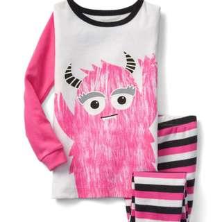 BabyGAP Halloween glow-in-the-dark Pink Monster Sleep Set BNWT