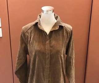Velvet Corduroy Shirt in Light Brown
