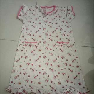 Young girl sleeping dress