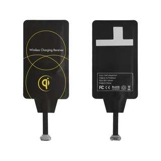 Micro USB无线充电接收卡片 黑色 M402上宽下窄 -+ BC699