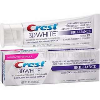 🚚 Crest 3D White Brilliance Vibrant Peppermint Toothpaste 4.1 oz / 116g