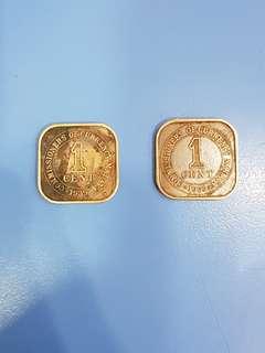 1939 1 cents Malaya
