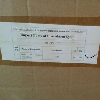Import Parts Of Fire Alam Ststem