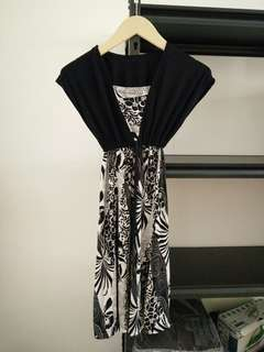 Dress silk monochrome