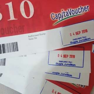 left with 4 X $10 capitaland vouchers for $36