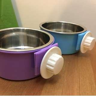 貓狗掛碗 2個 (不鏽鋼碗可拆)