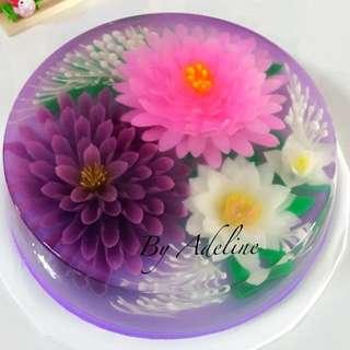 3D Jelly Art Jelly Cake