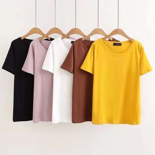 (XL~4XL) 2018 Summer Cotton Round Pullover Loose Short Sleeve T-Shirt