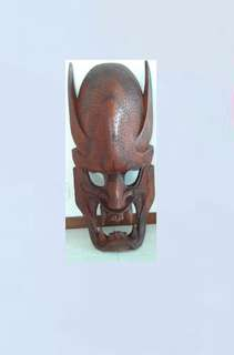 93 cm Tribal Wall Hanging Wooden Carved Mask