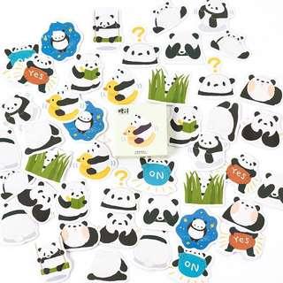 (Instock) Cute Panda Stickers