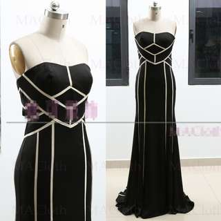 [SAMPLE SALE] Sexy Slim Wedding Prom Evening Dress Black Gown