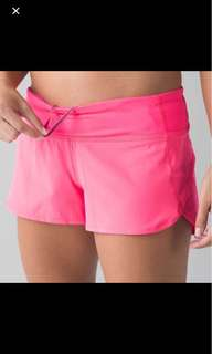BNWT authentic lululemon Neon pink speed short size 2