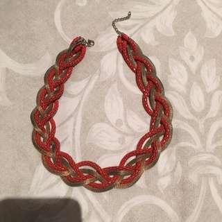 Gold & Orange Necklace