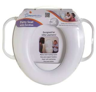 Dreambaby Potty Seat with Handles - White 幼兒扶手坐厠板