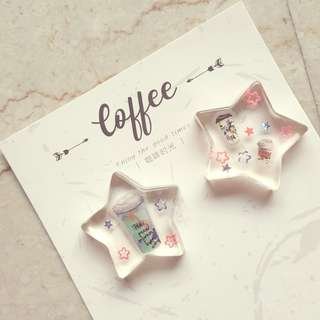 Resin Coffee pieces