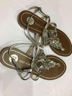 River Island Harmony Embellished Flat Sandals