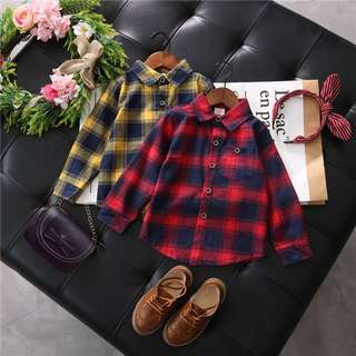 Ready Stock Boys plaid shirt