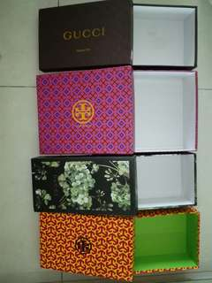 FREE branded shoe BOXES (pls buy something, it is for charity)