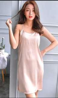 Sexy Nightwear Champagne Dress Lingerie Nigjt Dress