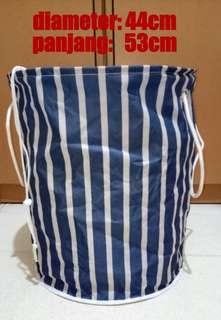 laundy bag besar motif stripes