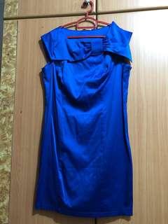 New Look XL Big Bow Blue Dress