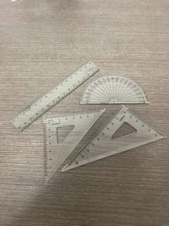 Brand new Triangle rulers and protractor/stationery Mathematics measuring instrument