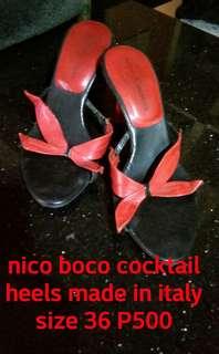 NICO BOCO COCKTAIL HEELS MADE INITALY
