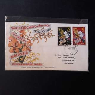 Malaysia  1963 First Day Cover (Singapore Postmark)