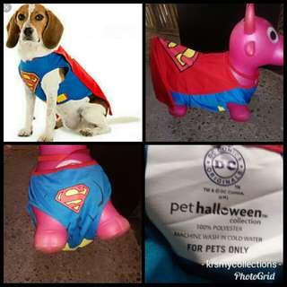 Super Man dog pet costume