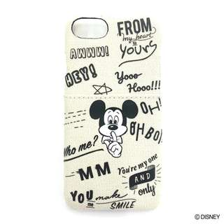 Japan Disney Accommode Mickey Mouse Calligraphy iPhone Case