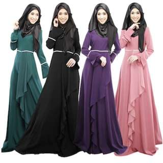 [XPROJEK RAYA SALE] Baju Raya Girl Long Sleeved Dress Muslim Wear Jubah Muslimah Kurung Clothing