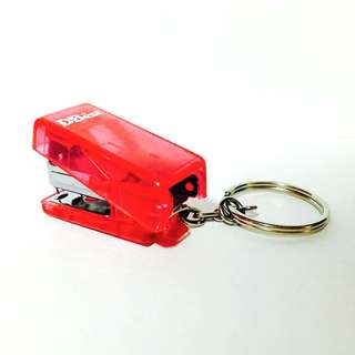 Mini Red Stapler with Keychain
