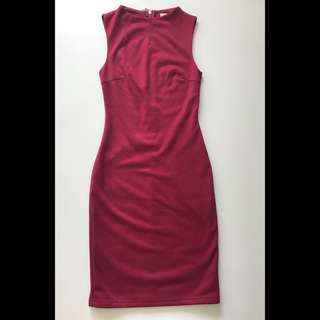 LB Love Bonito red work Dress XS