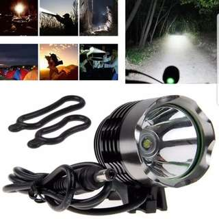 ***In Stock -3000LM Headlight Cree XM-L2 (With Rechargeable Battery Pack 4.2v 4800mAh DC Plug)