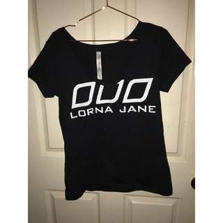 LORNA JANE BLACK TEE