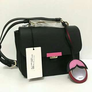 furla ellisir mini crossbody black sz 22/19x16