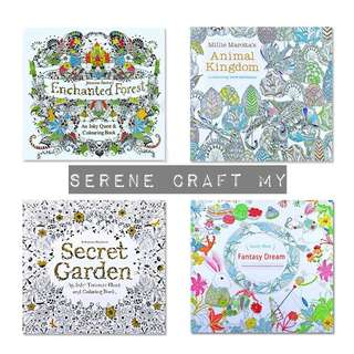 Set of 4pcs Colouring Book For Adults
