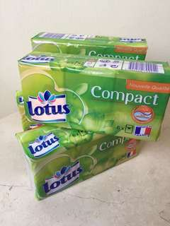 Lotus Compact of 6 . Fragrance Free.