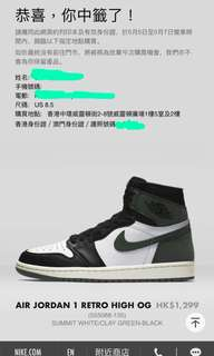 Air Jordan 1 Retro High 1 OG Clay Green