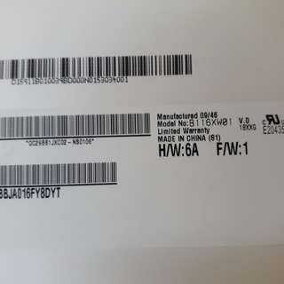 🚚 原廠螢幕 B116XW01 V.0,H/W:6A ;F/W:1